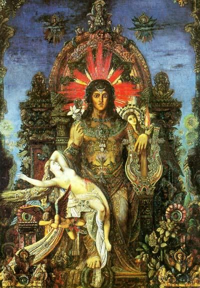 Jupiter and Semele (detail) by Gustave Moreau