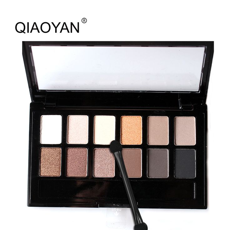 New Top Quality 1 PZ 12 Colori Impostati Donne Impermeabile Trucco gamma di colori Dell'ombretto Sopracciglio Ombretto In Polvere Cosmetico Con La Spazzola