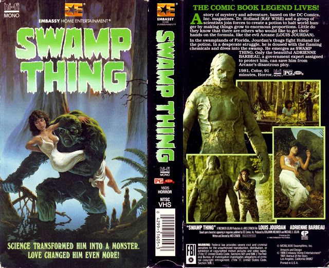 VHS Cover Scans: Swamp Thing (1982)