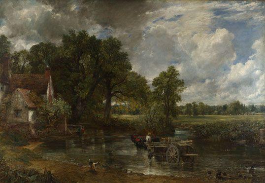 John Constable: 'The Hay Wain'.  Room 34.