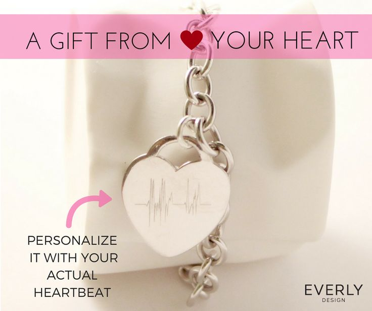 Personalized Jewelry gift with you or your loved ones ACTUAL HEARTBEAT! Give a gift from your heart this Valentines day! Download the Free App to design yours!