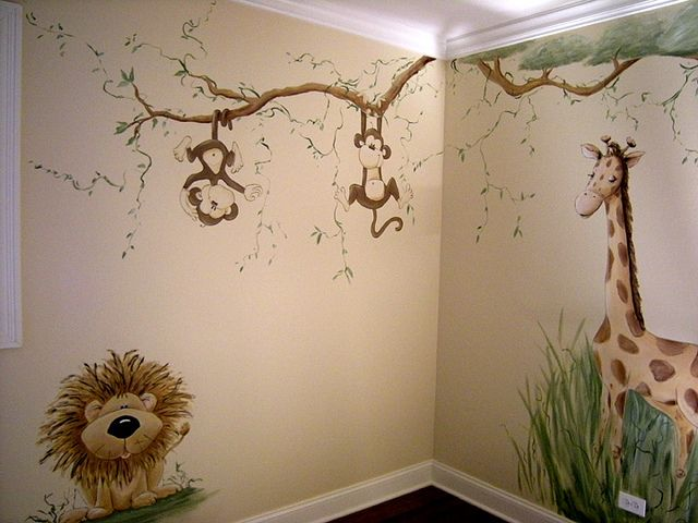 Whimsical Jungle Nursery Mural    http://roombaby.co.uk/