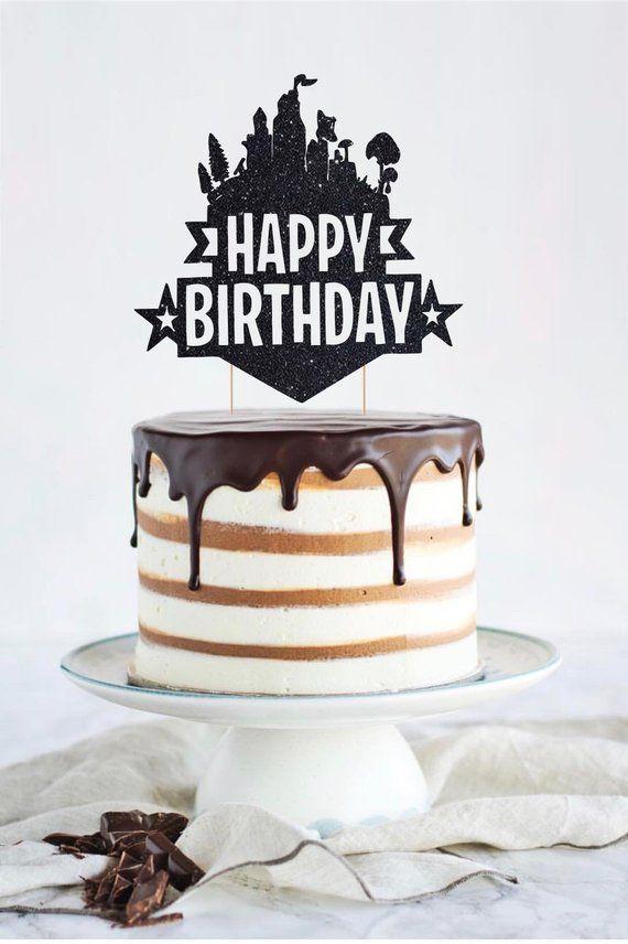 Astounding Fortnite Happy Birthday Cake Topper Fortnite Personalized Funny Birthday Cards Online Alyptdamsfinfo