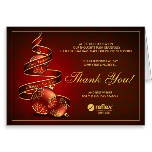 46 best business holiday thank you cards images on pinterest christmas business thank you cards with logo reheart Choice Image