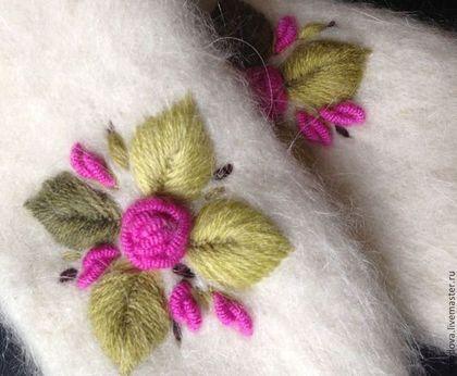 Варежки с вышивкой Аукцион - варежки,вышивка,ручная работа,вышивка шерстью