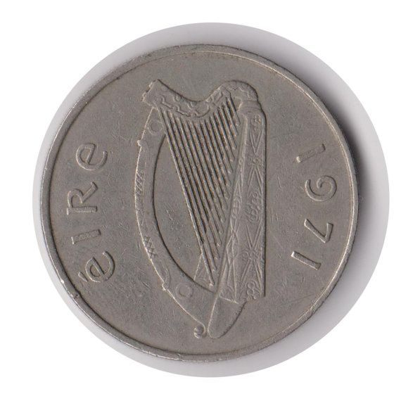 Irish 10 Pence 1971 Coin Code:JMC1882 by COINSnCARDS on Etsy ONLY £1.49