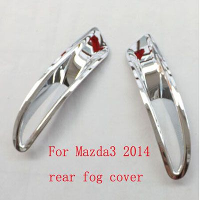 Free Shipping For Mazda 3 Sedan 2014 Car Styling Rear Tail Fog Light Lamp Cover Trim ABS Chrome Auto Stickers Accessories 2pcs #Affiliate