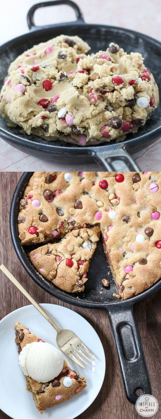 Skillet Chocolate Chip Cookie recipe - cookie cake, soft chocolate chip cookie recipe