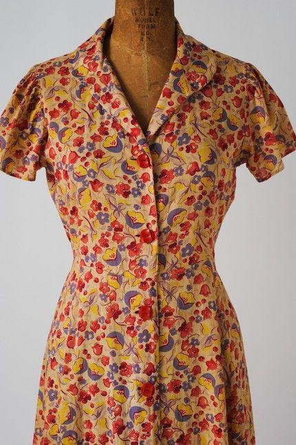 Flour Sack Dresses 1930s | Found on vavoomvintageblog.com