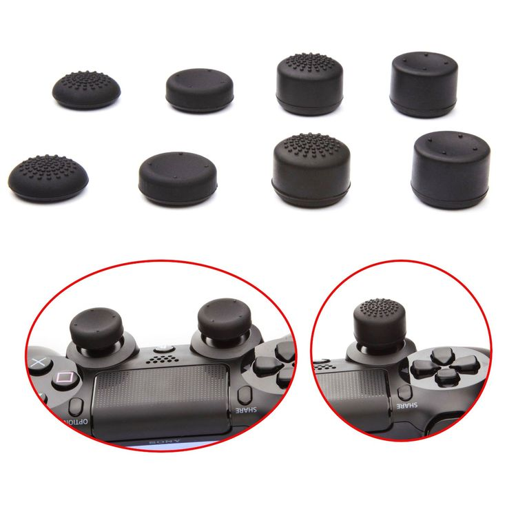 Amazon.com: KELUX Thumb Grips 8 Pack for PS4 Controllers (PlayStation 4): Video Games-> $10