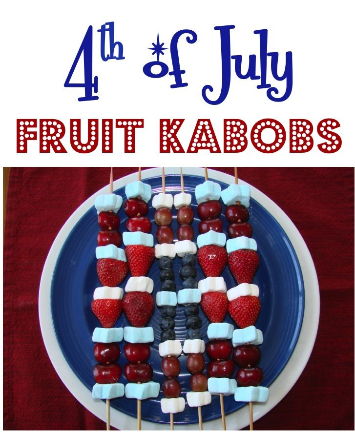 4th of July Fruit Kabobs! ~ from TheFrugalGirls.com {these make the perfect 4th of July party treat ~ the kids and adults will LOVE them!} #4thofjuly #fruit #kabobs