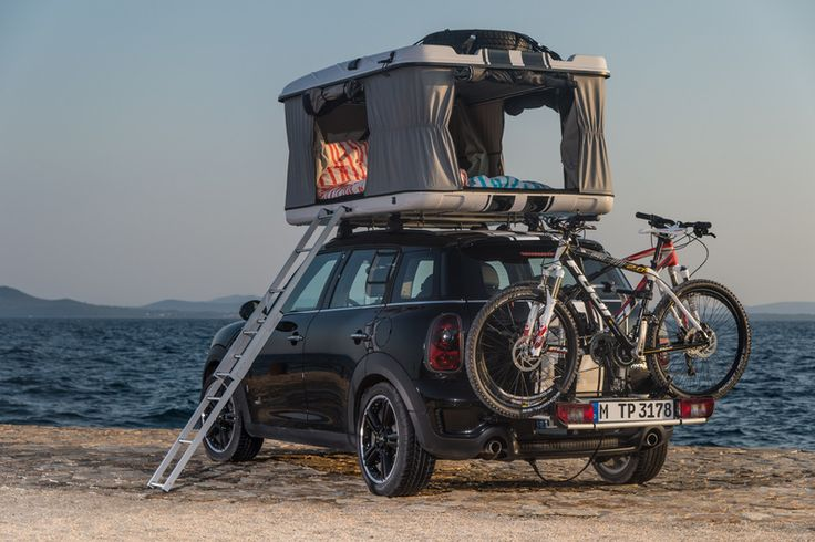 The AWD MINI Countryman ALL4 Camp replaces the original Columbus Variant roof-top tent with a larger two-berth Maggiolina tent model making it the perfect pocket-sized  vehicle for overlanding.