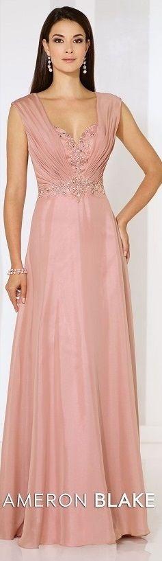Vestido para senhoras para festas longo rose - long dress - moda anti-idade