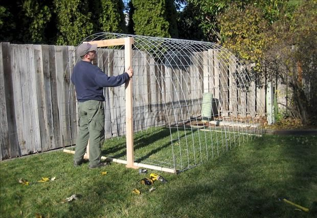 How to Build a Greenhouse :  I might have to try making one of these to overwinter my hanging baskets from my front porch.