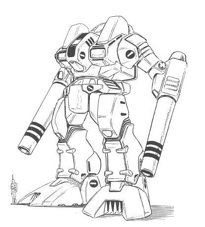 MBR-05-Mk.I Hussar Main Battle Robot by ~Glitterboy2098 on deviantART