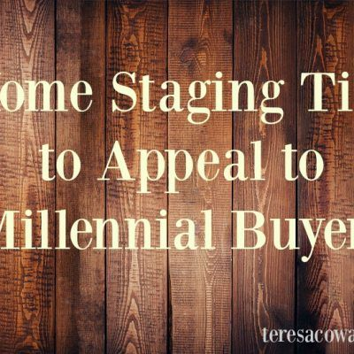 How to Stage Home for Millennials http://teresacowart.com/home-staging-tips-to-appeal-to-millennial-buyers/