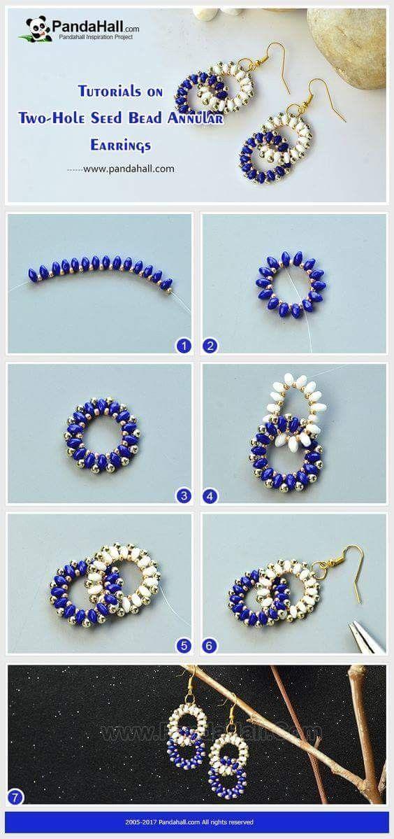 Twin Bead Annular Earrings