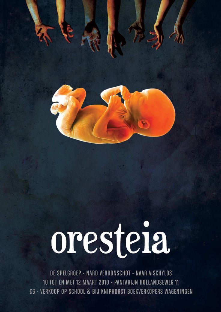 Oresteia unborn foetus theatre poster