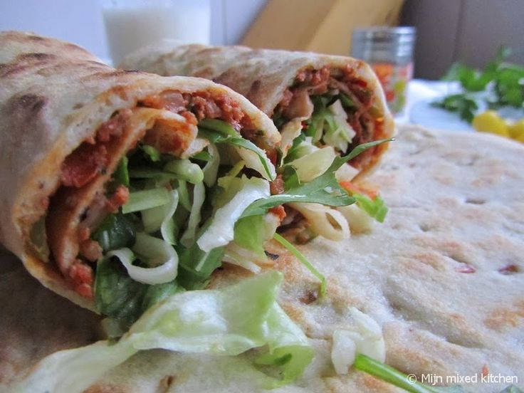 Mijn mixed kitchen: Lahmacun (zelfgemaakte Turkse pizza). Zacht!!