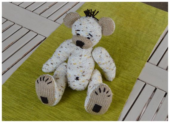 This cutie pie of a teddy called, Teddy Marcello is all knitted in stocking stitch on the flat, and therefore fairly novice knitter could create this