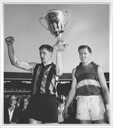 1961, Hawthorn 13.16 (94) d Footscray 7.9 (51).    Coach: John Kennedy  Captain: Graham Arthur