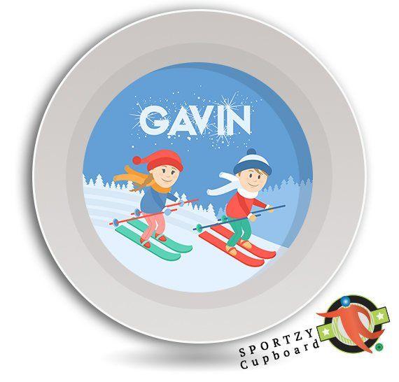 Bowl Skiing Dish Kids Dinnerware Childrens Tableware Etsy Kids Dinnerware Bowl Dinnerware