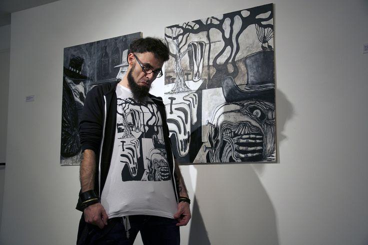 L'artista Renato Florindi in un momento di svago dopo l'inaugurazione!