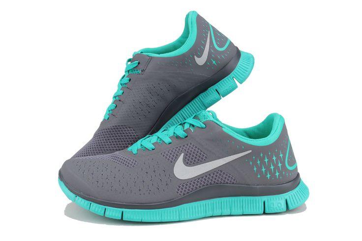 Nike Womens Shoes Nike Free 4.0 v2 Gray Blue