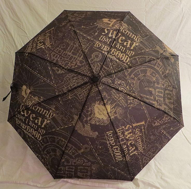 Harry Potter I Solemnly Swear I'm Up to No Good Compact Umbrella New