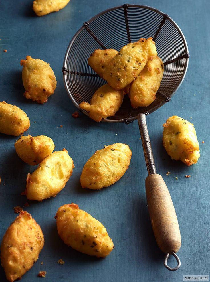 Dauphine-Kartoffeln oder Kartoffelnockerln