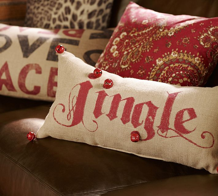 "Pottery Barn ""Jingle"" Pillow Tutorial - Old Things New, she also explains how to download a font from Dafont.com and then open and use it!"