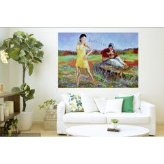 DANCING QUEEN (OIL ON STRETCHED CANVAS AND CAN BE HUNG AS IS) 800MM X 600MM X 20MM