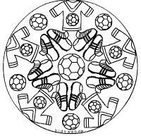Fussball Mandala