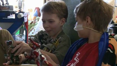 "Thomas and Quinton share a very special bond at St. Louis Children's Hospital. Both boys used a Berlin heart as the awaited a heart transplant. Dr. Pirooz Eghtesady, the director of cardiothoracic surgery at St. Louis Children's Hospital, discusses how ""assist"" technology like this that wasn't around decades ago has dramatically improved the experience and the outcomes for children in heart failure who need a transplant."