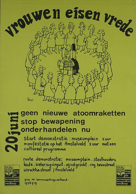 Affiche voor de demonstratie in Amsterdam op 20 juni 1981 of 1982
