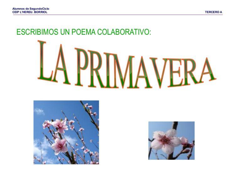 Poema la primavera by Pilar Garcia Mor via slideshare