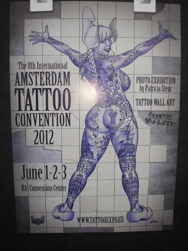 Art Poster: 4 Diff. Posters Tattoo Convention Amsterdam Original Hells Angels A3 Size