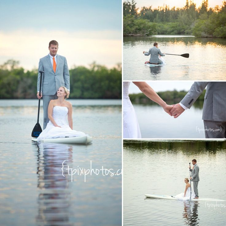 Stand up paddle board wedding
