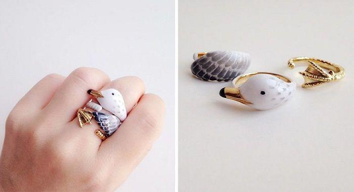 кольца с животными фото