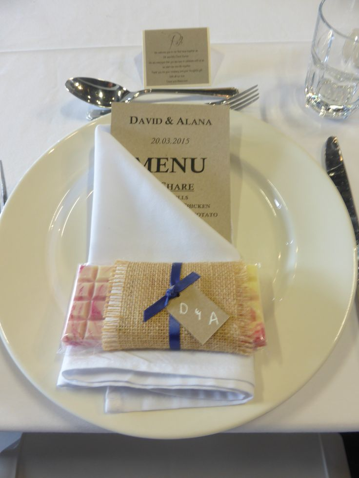 Love this simple way of presenting guests with their gifts.