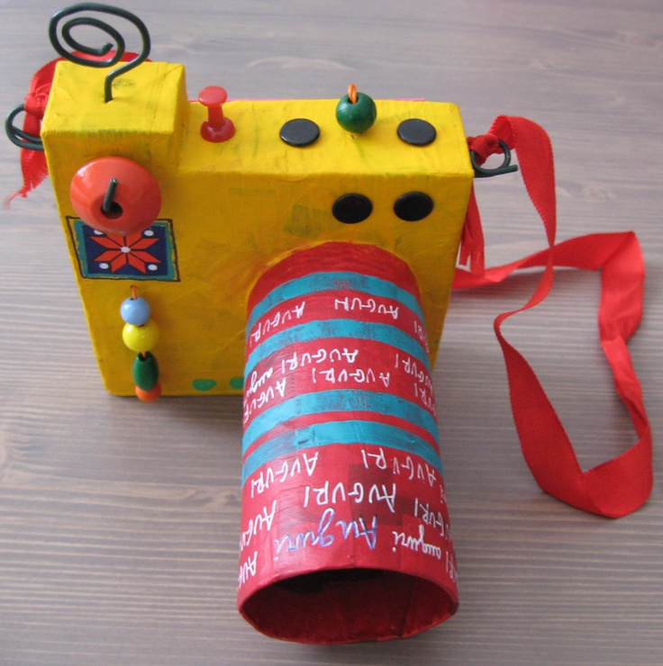 The kids could make their own cameras for play. Might make them play with them longer than a day! :-)