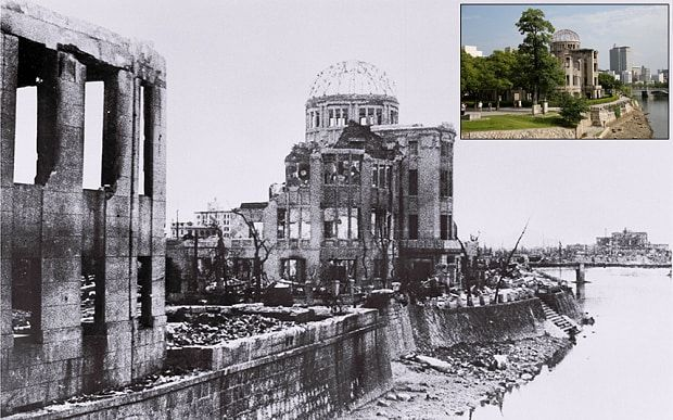 On    August 6, 1945, the US dropped the atomic bomb on Hiroshima, killing about    140,000 by the end of the year , out of the 350,000 who lived in the    city. Three days later, a second atomic bomb was dropped on Nagasaki. As the    70th anniversary of the world's first nuclear attack approaches, Reuters    photographer Issei Kato sourced archive images of the cities in the    aftermath of the Hiroshima and Nagasaki bombings and revisited the same    locations today.    Above: The gutted…