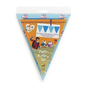#GiggleandHoot Hoot Party Bunting. Party Bunting Set includes 12 different paper flags with 4 different designs and ribbon to hang. $9.99