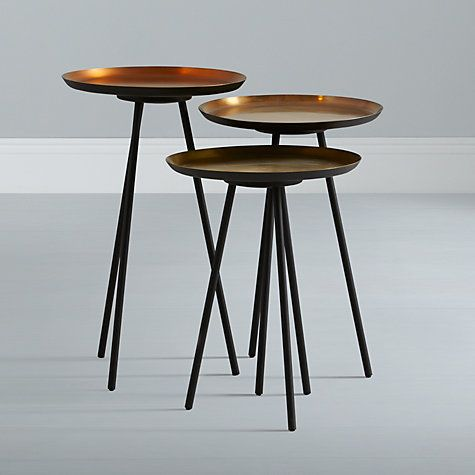 Buy Content by Conran Accents, Round Side Tables with Metallic Top, Set of 3 Online at johnlewis.com