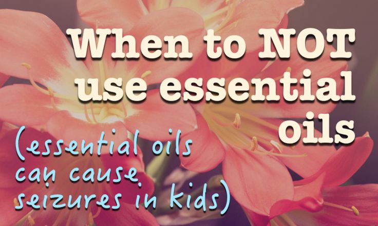 When to avoid Essential oils! Some are harmful to children. Make sure you get your health information from qualified and trained professionals!