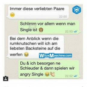 Lustige WhatsApp Bilder und Chat Fails 207 - Angry Single