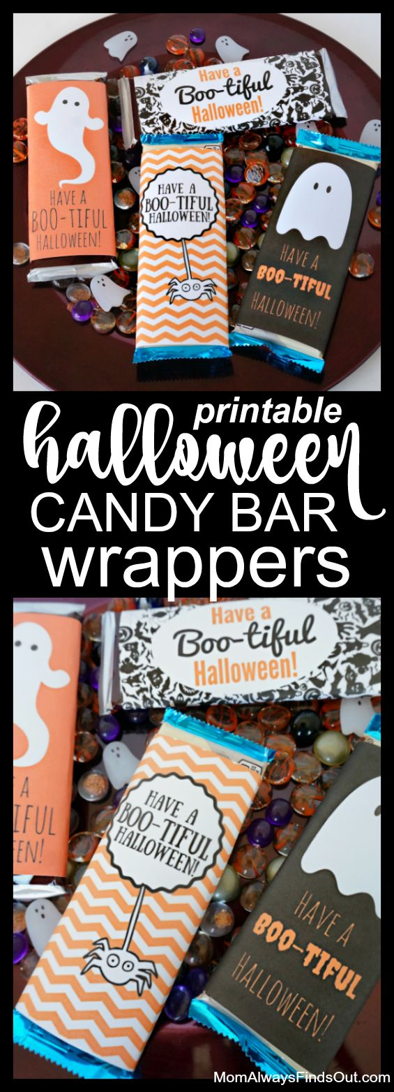 Have a Boo-tiful Halloween! Free Printable Candy Bar Wrappers #SpeakBeautiful #sponsored