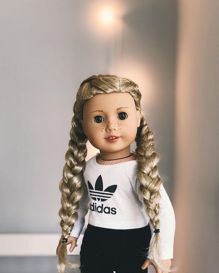 American Girl Doll Hairstyle Braids Makenzie Ag On Instagram American Girl Doll Hairstyles Doll Clothes American Girl My American Girl Doll