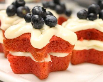 Red Velvet Star Cakes Recipe