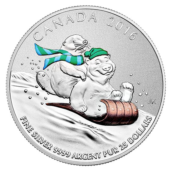 $25 for $25 Fine Silver Coin – Winter Fun